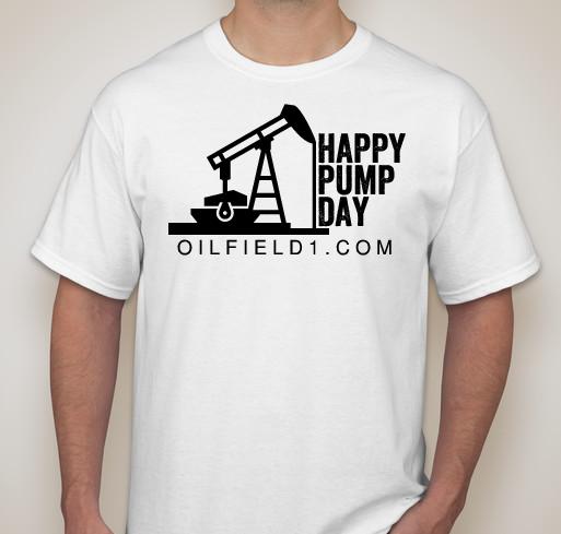 Happy Pump Day Oilfield1 Shirt White Black.png