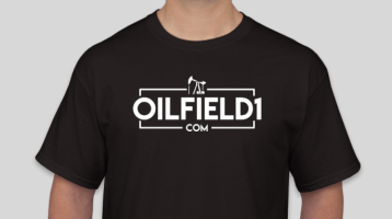 OILFIELD1 OUTLINE LOGO shirt black